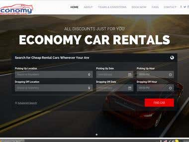Economy Car Rentals Website
