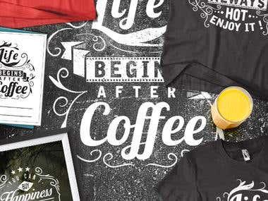 Typography T-shirt Designs
