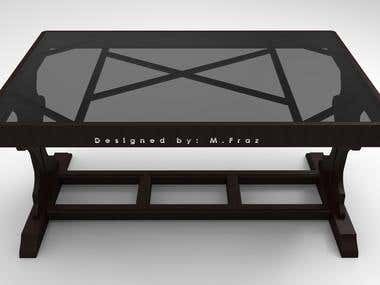 Wooden Table (Product Designing)