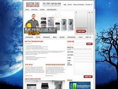 24H Appliance Repair Thesis Framework WordPress Website