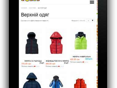 Develop online kids clothes shop by joomla and VirtueMart