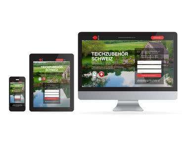 SEO Landing Page, Webdesign