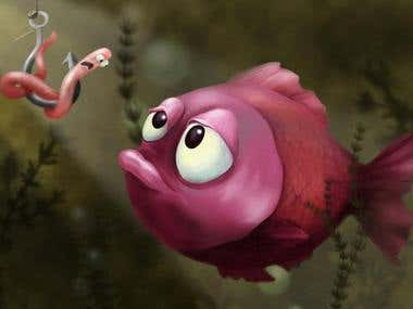 Illustration for childrens book/ Fish
