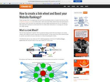 link wheel and Boost your Website Rankings
