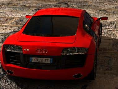 3Ds Max Car Animation-Audi R8 2012 Model