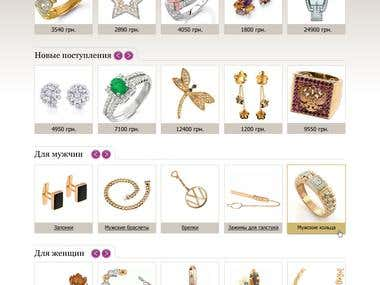 Internet shop of jewelry