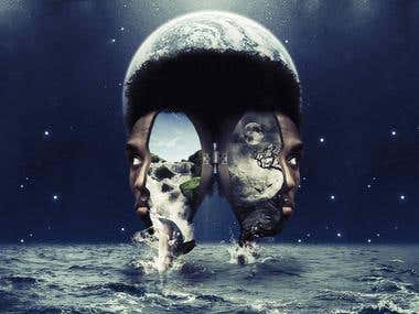Photoshop surreal photomontage