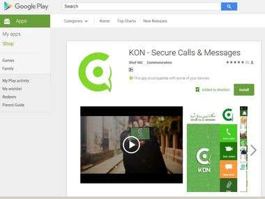 KON -Secure calls & messages