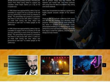 Shaun Perry Website Design