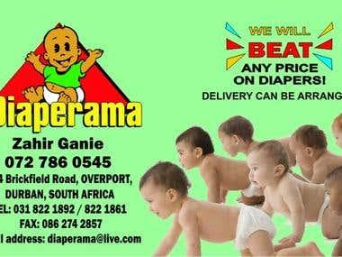 Diaperama Client Logo designed