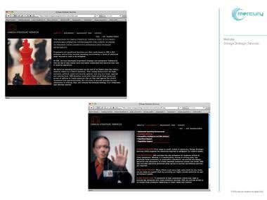 Website design - part of corporate identity project