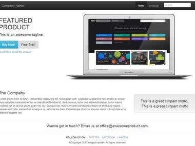 Bootstrap Company Design
