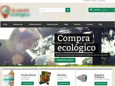 Ecologic Products store made by Prestashop