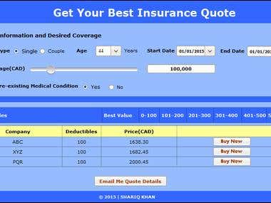 Insurance Quote Application