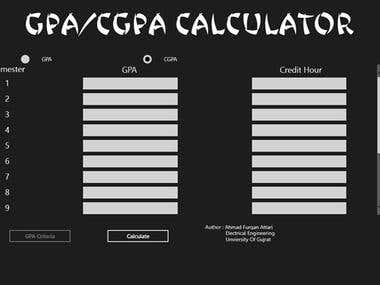 A Customizable GPA Calculator for Windows 8 Store