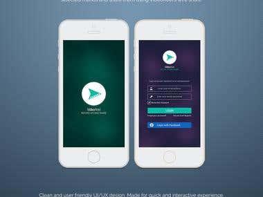 VideoReel Mobile App UI Design