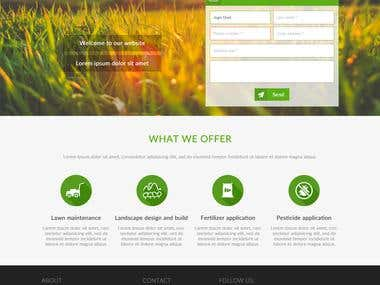 Wordpress OnePage Design