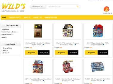 eBay Store Template for Wilds