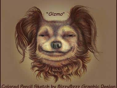 """Gizmo\"" Illustration for Children\'s Book"