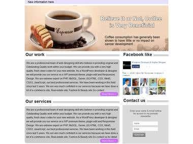 Redesign site.