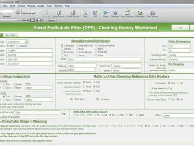 Diesel Filter Cleaning Worksheet