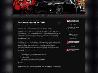 G&D Auto Body - Garage website