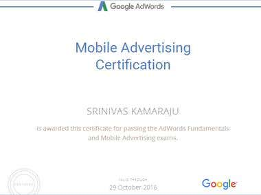Google Mobile Advertising Certified
