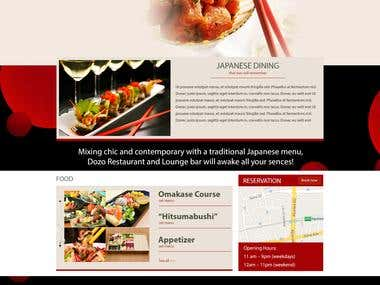 Japanese Restaurant Wadatsumi website