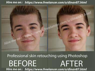 Skin retouch and Color Correction