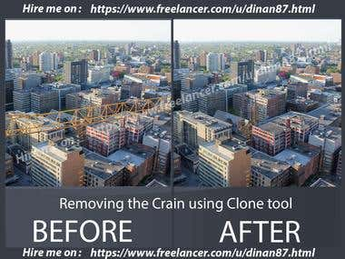 Using of clone tool