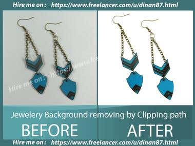 Jewelery Background removing by Clipping path