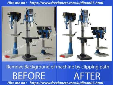 Remove Background of machines by clipping path