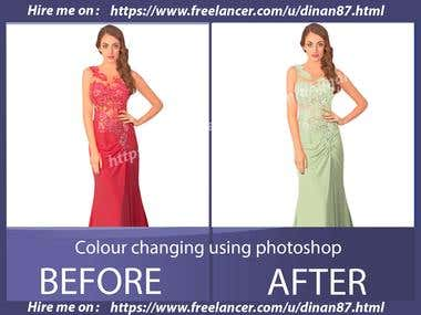 Colour changing using Photoshop