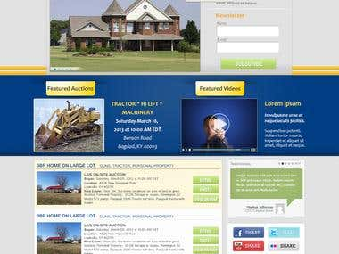 Web Design for Auction Company