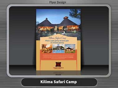 Kilima Safari Camp Flyer