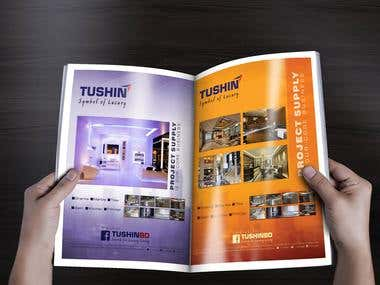 Magazine Advertisement Design for TushinBD
