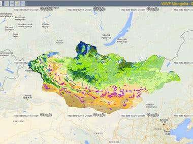 GIS for WWF, Mongolia