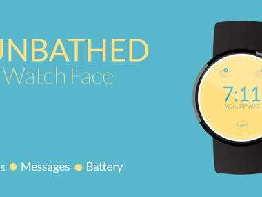 Watch face for Android app