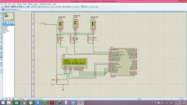 Proteus simulation for temperature sensosor | Freelancer