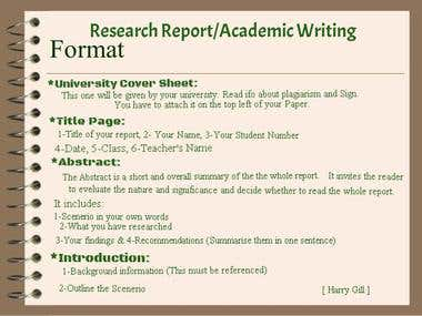 Academic Writing, Research Papers
