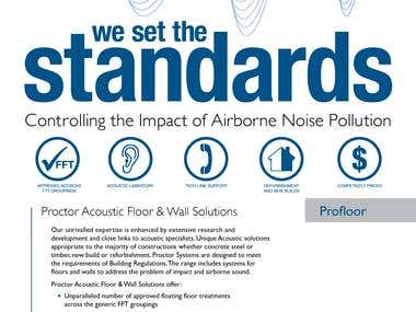 Print Ad - Proctor Acoustic Floor and Wall Solutions