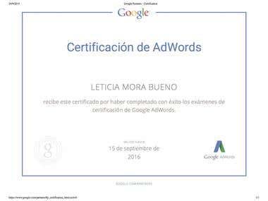 Certificación AdWords 2015