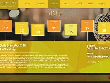 Website Design for Secondary School Choir