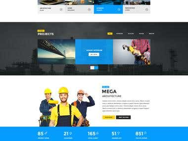 Szablon graficzny dla biznesu architektura/budownictwo