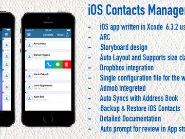 iOS Contacts Manager