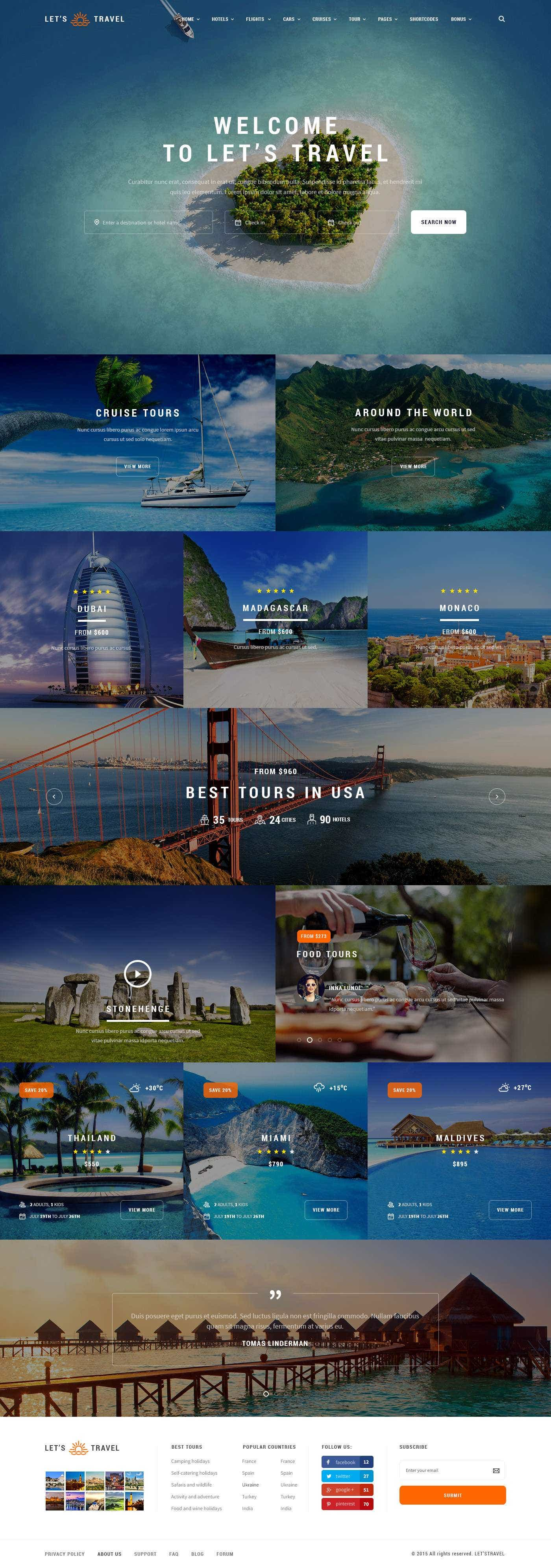 Szablon dla Biura Podróży lub Agencji Turystycznej
