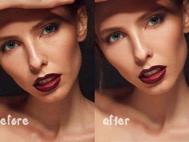 natural beauty retouch