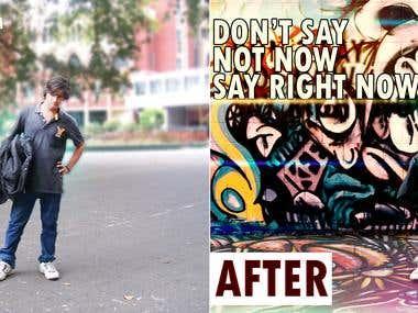 BG Change and Photo Editing