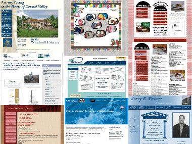 Custom HTML / CSS Websites