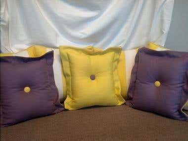 Reversible Tufted Flange Pillows